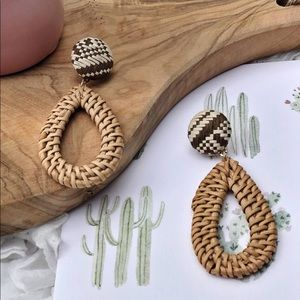 Trendy Weaved tear drop earrings